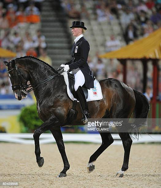 Denmark rider Nathalie Zu SaynWittgenstein on her horse Digby competes in the Equestrian Dressage Individual event of the 2008 Beijing Olympic Games...