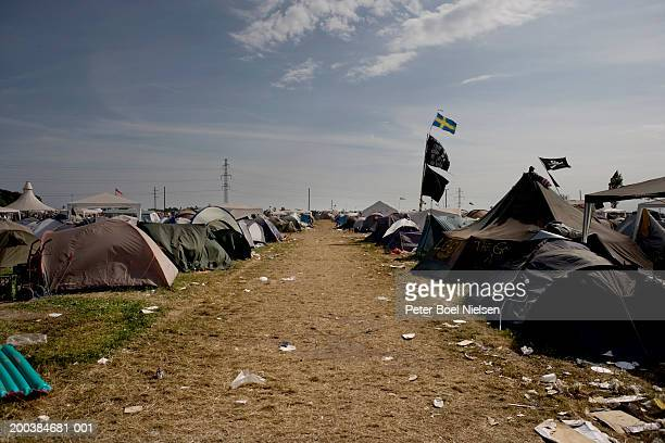 Denmark, Roskilde Festival, campsite