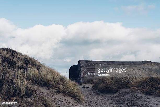 Denmark, Skagen, bunker in dunes