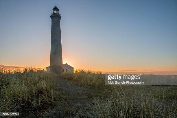 Denmark, Skagen, lighthouse at the beach