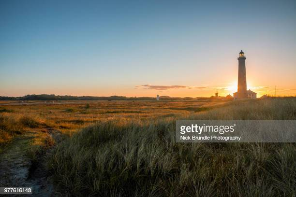Denmark, Skagen, lighthouse at the beach