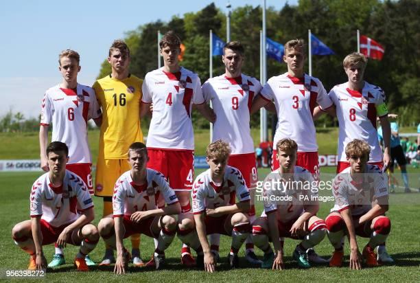 Denmark team group Jacob Steen V Christensen goalkeeper Daniel Gadegaard Andersen Tobias Pajbjerg Anker Muamer Brajanac Mathias Ross Jensen Jeppe...