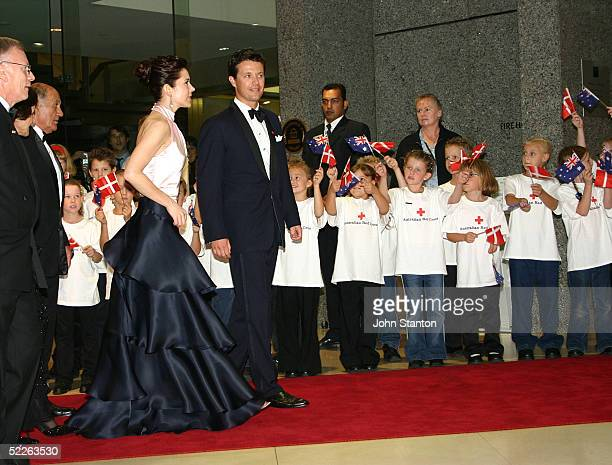 Denmark's Australian born Crown Princess Mary and her husband Crown Prince attend the Australian Red Cross 90th Anniversary Gala at the Westin Hotel...