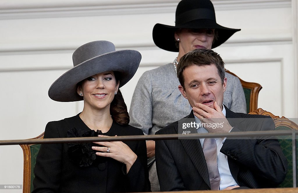 Denmark's Crown Prince Frederik  (R) and : News Photo