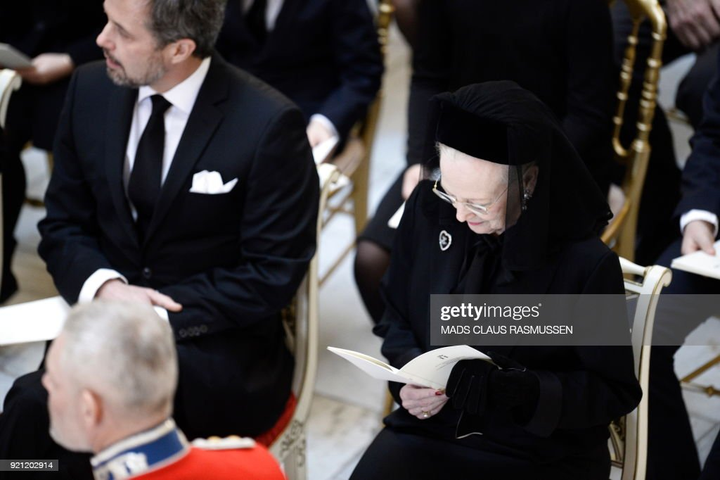 DENMARK-ROYALS-HENRIK-FUNERAL : News Photo