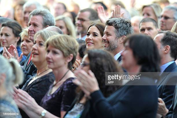 Denmark's Crown Prince Frederik and his wife Princess Mary attend the 40th Anniversary Gala Concert for the Sydney Opera House in Sydney on October...