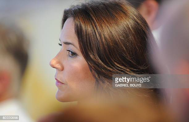 Denmark's crown prince's wife Princess Mary attends the opening ceremony of the 2008 Beijing Olympic Games in Beijing on August 8 2008 The threehour...