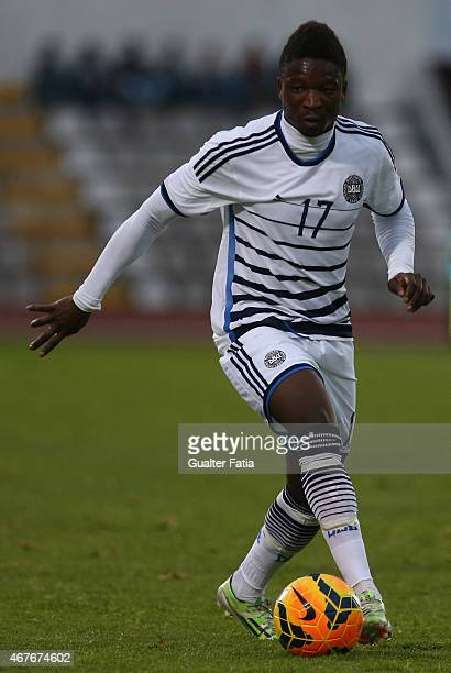 Denmark's forward Danny Amankwaa in action during the U21 International Friendly between Portugal and Denmark on March 26 2015 in Marinha Grande...