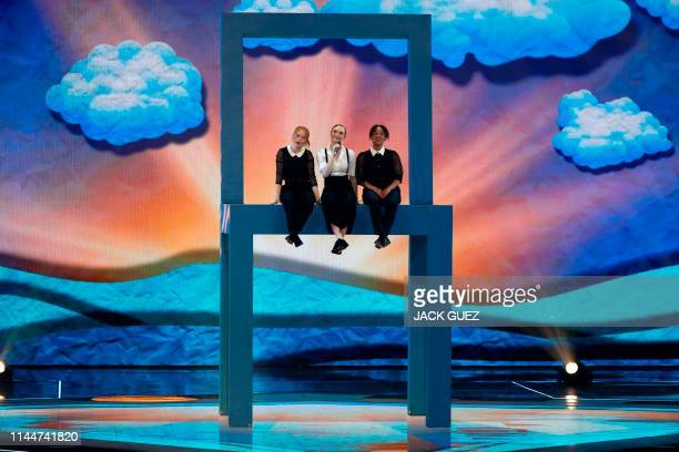 Denmark's Leonora performs the song Love is Forever during the Grand Final of the 64th edition of the Eurovision Song Contest 2019 at Expo Tel Aviv...