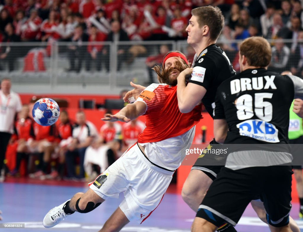 Denmark S Mikkel Hansen Vies With Germany S Finn Lemke And