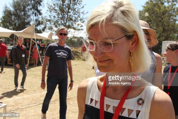 Denmarks Minister for Development Cooperation Ulla Pedersen Tornaes attends Global Goals World Cup women's soccer tournament as actor of Game of...
