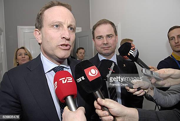 COPENHAGEN /DENMARK Denmark's minister for Foreign Affairs Martin Lidegaard and Denmarks's minister for defence Nicolai Waamen and Lene Espersen...