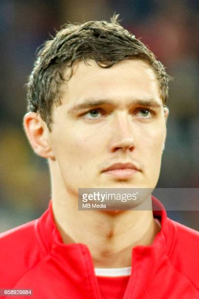 Denmark's national soccer player Andreas Christensen pictured before the 2018 FIFA World Cup qualifier soccer game between Romania and Denmark on...