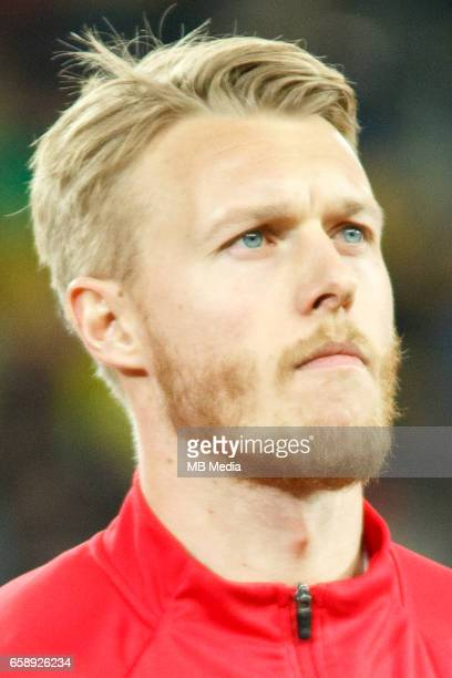 Denmark's national soccer player Simon Kjaer pictured before the 2018 FIFA World Cup qualifier soccer game between Romania and Denmark on March 26 at...
