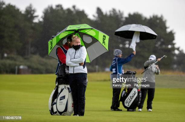 Denmark's Nicole Broch Larsen as she waits to play her second shot into the 18th during day two of the Aberdeen Standard Investments Ladies Scottish...