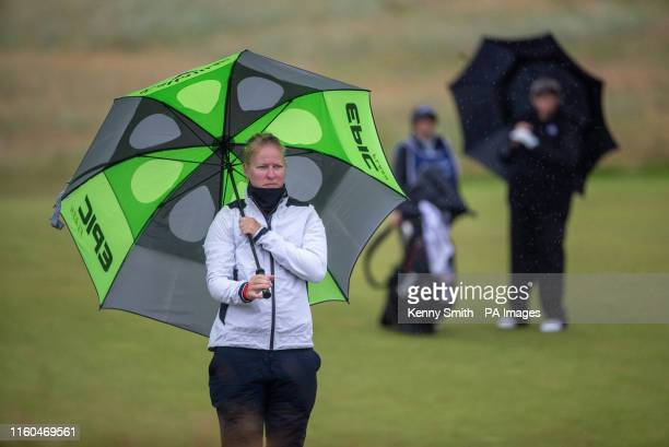Denmark's Nicole Broch Larsen waits to play her second shot at the 8th hole during day two of the Aberdeen Standard Investments Ladies Scottish Open...