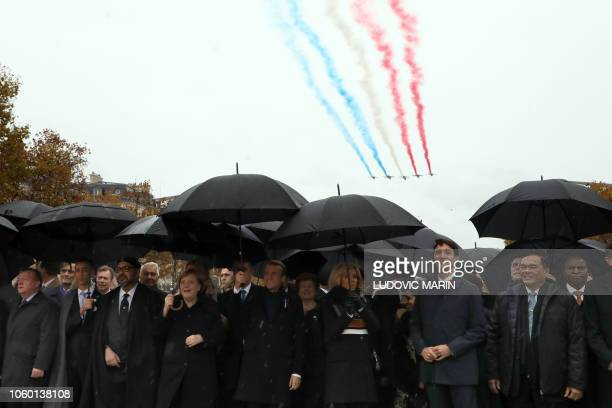 Denmark's Prime Minister Lars Lokke Rasmussen, Morocco's Prince Moulay Hassan, Moroccan King Mohammed VI, German Chancellor Angela Merkel, French...