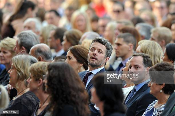 Denmark's Prince Frederik and his wife Princess Mary attend the 40th Anniversary Gala Concert for the Sydney Opera House in Sydney on October 27 2013...