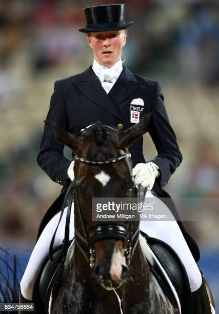Denmarks Princess Nathalie Zu SaynWittgenstein on Digby during the individual dressage 1st round qualifier at the Shatin Equestrian centre Hong Kong...