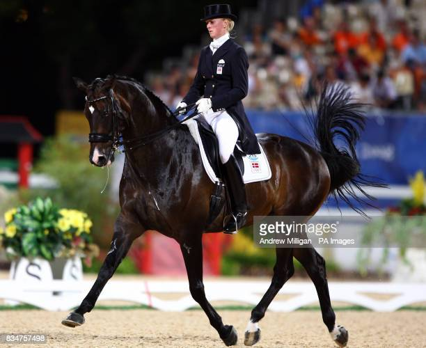 Denmark's Princess Nathalie Zu SaynWittgenstein on Digby during the individual dressage 1st round qualifier at the Shatin Equestrian centre Hong Kong...