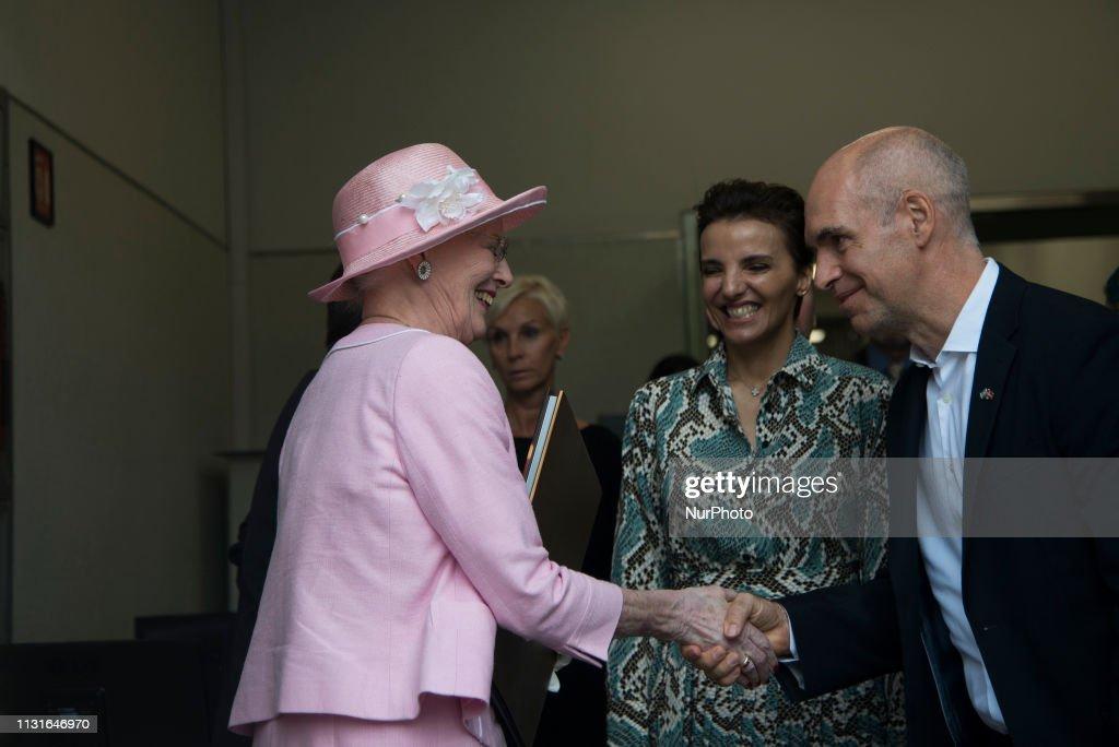 ARG: Denmark's Queen Margrethe In Buenos Aires