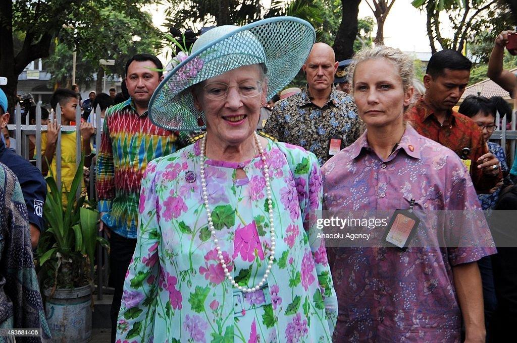 Denmark's Queen Margrethe II in Indonesia : News Photo