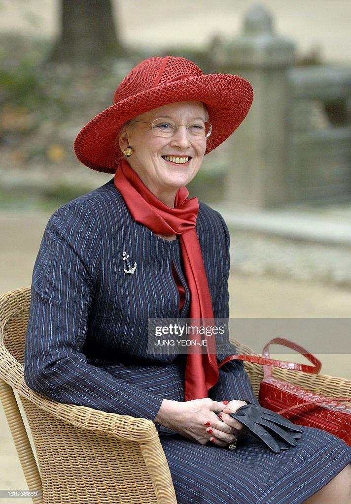 Denmark's Queen Margrethe II smiles duri : News Photo