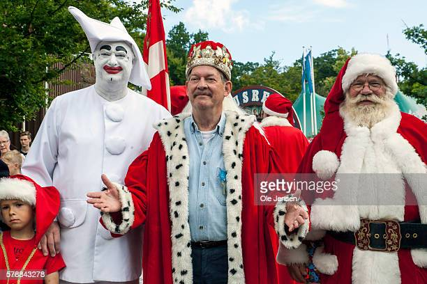 KLAMPENBORG DENMARK'u2013 JULY 20 Danish actor and movie director Claus Bue is elected by World Santa Congress as Honorary Santa 2016 at Bakken...