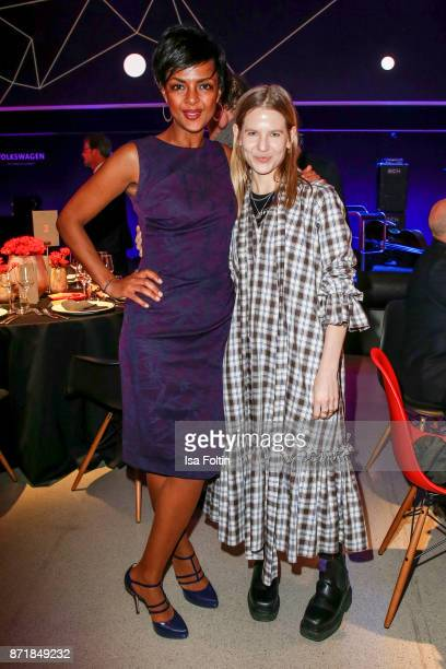 Dennenesch Zoude and Aino Laberenz attend the Volkswagen Dinner Night prior to the GQ Men of the Year Award 2017 on November 8 2017 in Berlin Germany