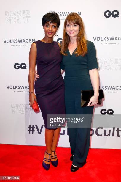 Dennenesch Zoude and Ina Paule Klink attend the Volkswagen Dinner Night prior to the GQ Men of the Year Award 2017 on November 8 2017 in Berlin...