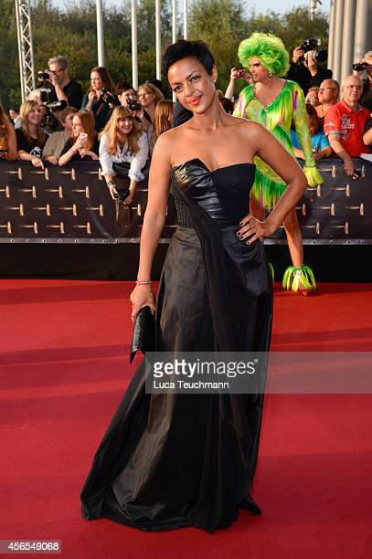 Dennenesch Zoude´ attend the red carpet of the Deutscher Fernsehpreis 2014 at Coloneum on October 2 2014 in Cologne Germany