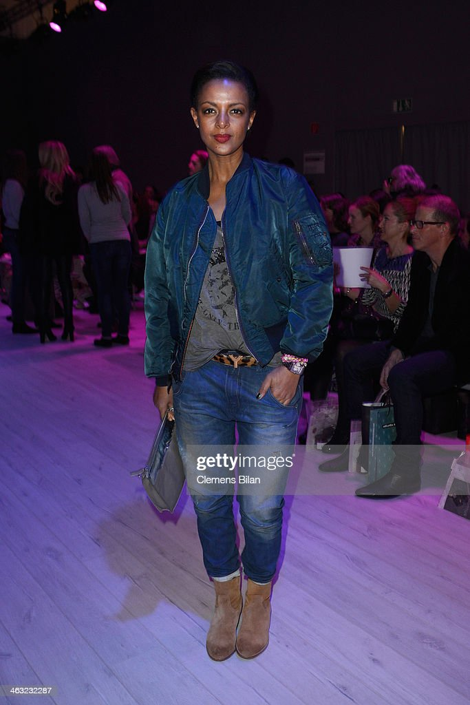 Dennenesch Zoude attends the Ewa Herzog show during Mercedes-Benz Fashion Week Autumn/Winter 2014/15 at Brandenburg Gate on January 17, 2014 in Berlin, Germany.