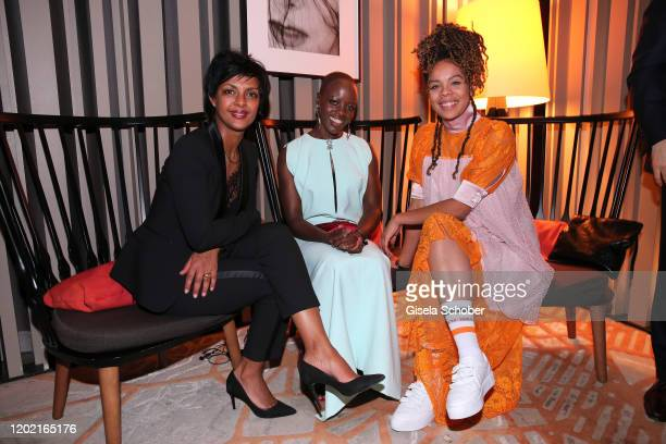 Dennenesch Zoude Florence Kasumba Jane Chirwa attend the Berlin Opening Night by Bertelsmann Content Alliance at hotel Das Stue on February 20 2020...