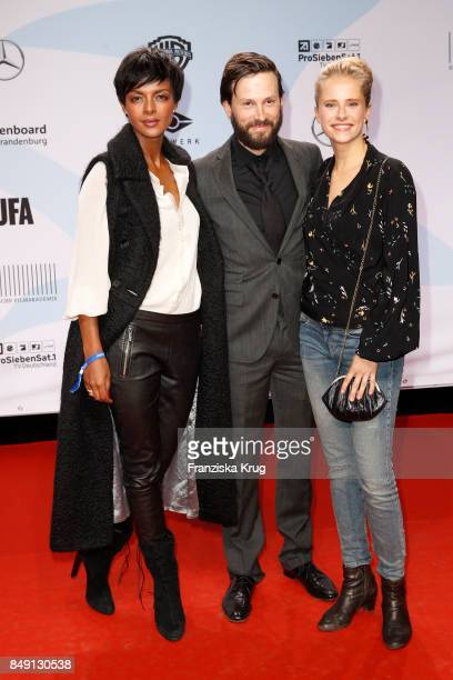 Dennenesch Zoude Franz Dinda and Susanne Bormann attend the First Steps Award 2017 at Stage Theater on September 18 2017 in Berlin Germany