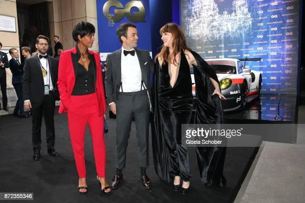 Dennenesch Zoude, Nikolai Kinski and his girlfriend Ina Paule Klink during the GQ Men of the year Award 2017 at Komische Oper on November 9, 2017 in...