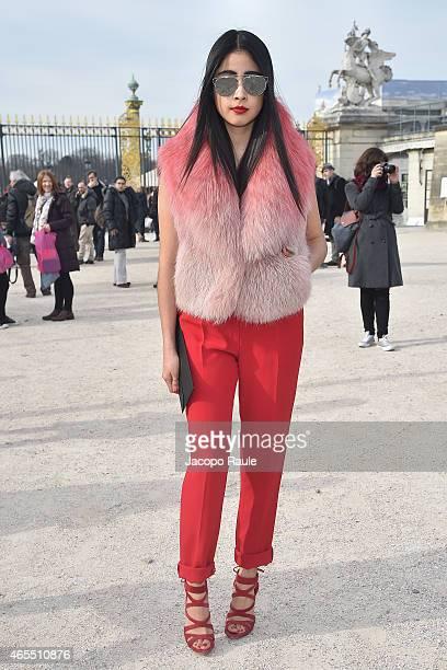 Denni Elias arrives at Elie Saab Fashion Show during Paris Fashion Week Fall Winter 2015/2016 on March 7 2015 in Paris France