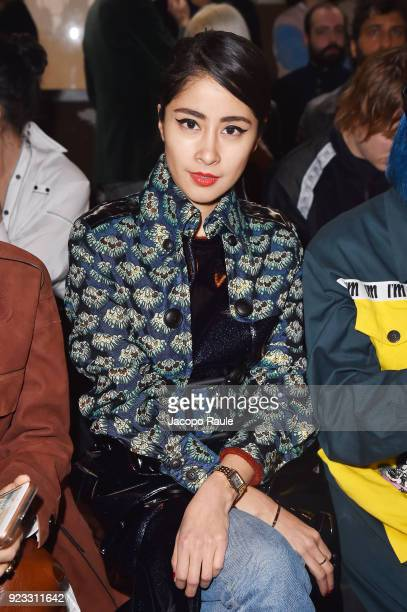 Denni Elias attends the Antonio Marras show during Milan Fashion Week Fall/Winter 2018/19 on February 23 2018 in Milan Italy