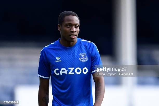 Dennis Adeniran of Everton during the PreSeason Friendly match between Everton and Preston North End at Goodison Park on September 5 2020 in...