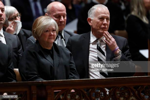 Dennis and Judy Shepard parents of Matthew Shepard look on prior to a service at the National Cathedral on October 26 2018 in Washington DC Shepard a...