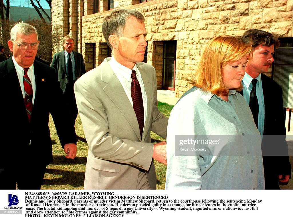 Dennis And Judy Shepard Parents Of Murder Victim Matthew Shepard Return To The Courthouse Followin : News Photo