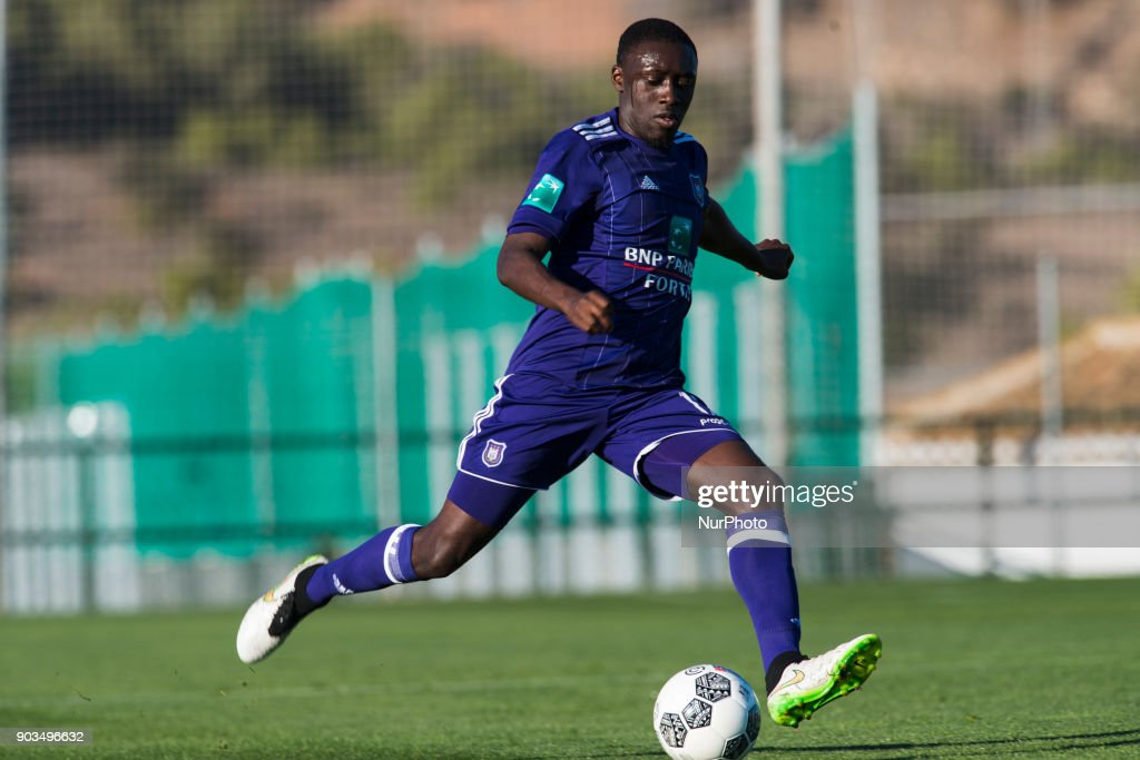 Dennis Appiah during the friendly match between FC Utrecht vs. RSC Anderlecht at La Manga Club, Murcia, SPAIN. 10th January of 2018.