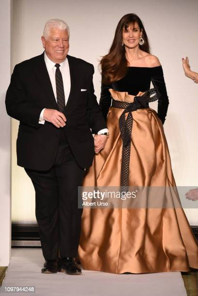 Dennis Basso and Carol Alt walk the runway for the Dennis Basso fashion show during New York Fashion Week The Shows at Cipriani 42nd Street on...