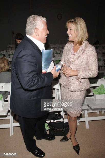 Dennis Basso and Deborah Norville during Olympus Fashion Week Spring 2006 Douglas Hannant Front Row at The Plaza in New York City New York United...
