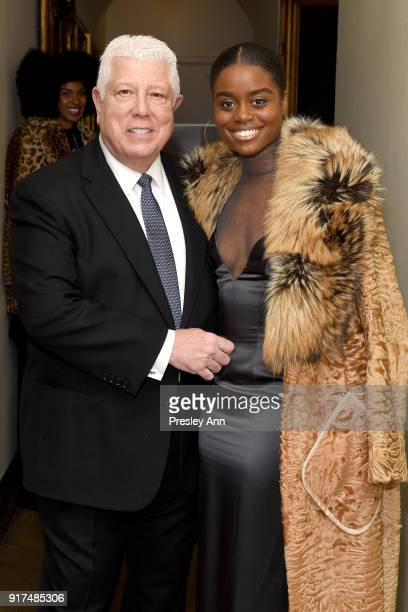 Dennis Basso and Denee Benton attend the Dennis Basso Fall/Winter 2018 Collection Runway Show at Saint Bart's Church on February 12 2018 in New York...