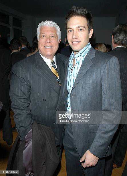 Dennis Basso and Eric Villency during Absolute Magazine Launch Party at One Central Park Condominuims in New York City, New York, United States.