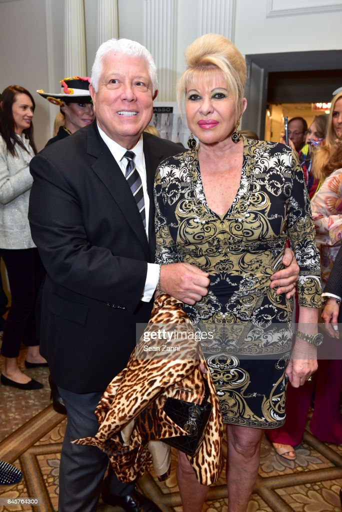 Dennis Basso and Ivana Trump attend the Dennis Basso Spring/Summer 2018 Runway Show during New York Fashion Week at The Plaza Hotel on September 11, 2017 in New York City.