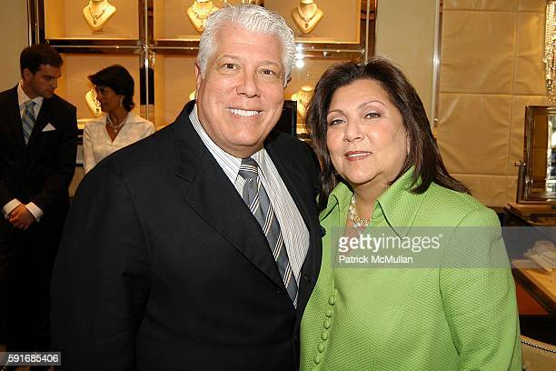 Dennis Basso and Judith Ripka attend Tinsley Mercer Mortimer and Shoshanna Lonstein Gruss host a private luncheon at the Judith Ripka store on...