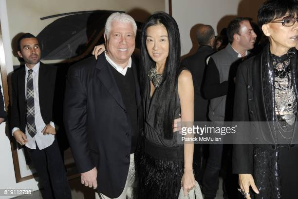 Dennis Basso and Vera Wang attend LARRY GAGOSIAN hosts the ANDREAS GURSKY Opening Exhibition at GAGOSIAN GALLERY at Gagosian Gallery on March 4 2010...