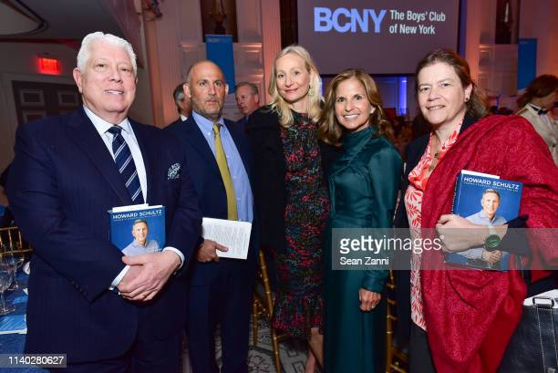 Dennis Basso David Ganek a guest Danielle Ganek and Ariadne CalvoPlatero attend the BCNY Annual Luncheon at 583 Park Avenue on April 03 2019 in New...
