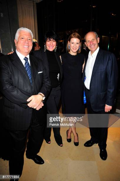 Dennis Basso Ghislaine Maxwell Lizzie Tisch and Jonathan Tisch attend Kick Off Celebration in Honor of the Silver Hill Hospital Gala 80th Anniversary...